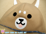 Tan and Blue Floral Happy Shiba Inu Dog Hat by HeartGuardian