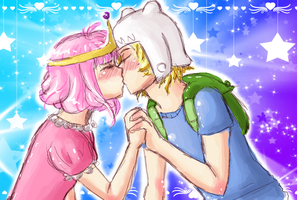 Bubblegum and Finn lulz by xXChireXx