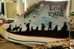 Lord of the Rings shoes WIP by AnnaShawkey
