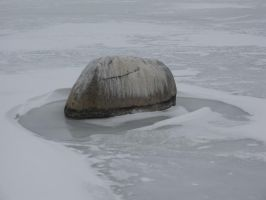 Rock in the Ice by natrat51