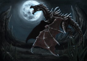 Alduin Skyrim by sternentreue
