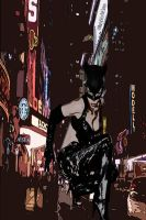 catwoman in new york by Smeryy