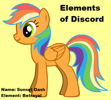 Elements of Discord- Sunset Dash by blargalarg721