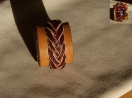Braided Leather Bracelet by Avanger