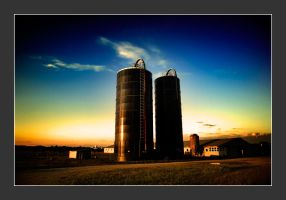 the silos at sunset by sublimeone