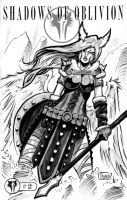 Two Sketch 15: Viking WarAngel by Shono