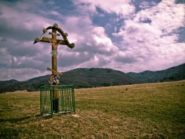 Alone cross - another view by 4ir4o