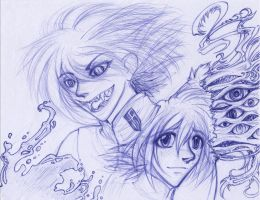 sketch - 2 sides to a Seras by irk