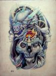 Tattoo design - King of Chimeras by Xenija88