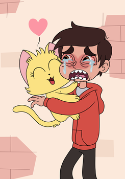 Kitten wants to love Marco Diaz by Deaf-Machbot