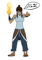 Don't mess with Korra. by WaterWizz