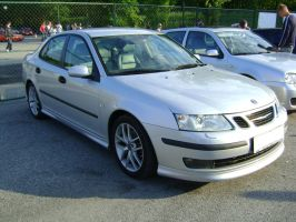 Silver Saab Tunned by CmacSTI