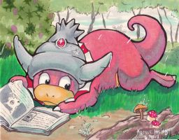 Slowking's Rainy Day Commission by karookachoo