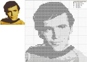 Chekov Cross Stitch Pattern by black-lupin