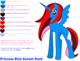 Princess Blue Sunset Rook! [Mary Sue] by RubytheCat12