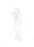 Future Trunks Sketch by ConceptCat