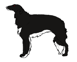 new borzoi character- needs name by Angelwolf-95
