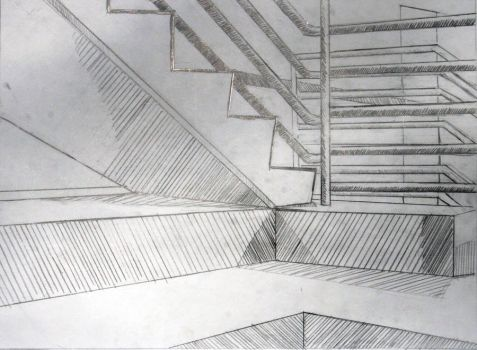 Perspective Stairwell by Kikera