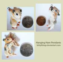 Hanging Ham Pendants by Bittythings