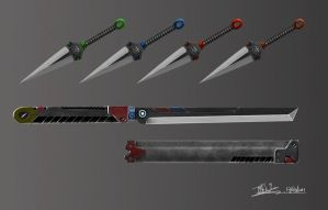 Ninja Weapons by Foonix1225
