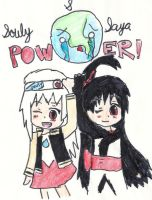 Souly and Saya power by LithuChigokuSaya