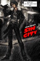 Squall Leonhart in Sin City by Onizzuka