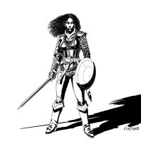 She warrior. by Artigas