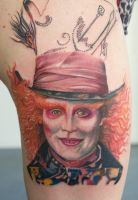 mad hatter tattoo IN PROGRESS... by graynd
