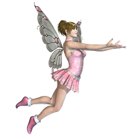 Pink Fairy 03 PNG Stock by Roys-Art