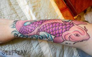 Koi Fish- Tattoo Design by GeeFreak