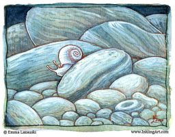 Ghostly Snail by emla