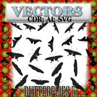 butterflies 5 vectors by feniksas4