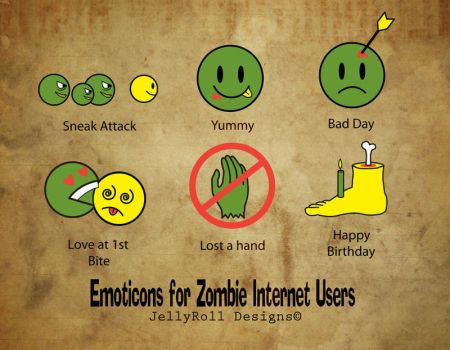 Emoticon for Zombies Internet Users by JellyRollDesigns