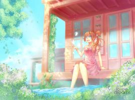 Lake house spring by loveedreams