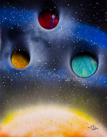 Hanging Planets by EccoingMark