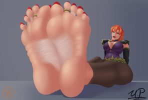Aria: Feet Portrait (Commission) by StarPermafrost