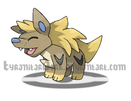 Striped Hyena Fakemon by TyranitarDark