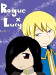 Rogue x Lucy~Genderbend by altrilast13