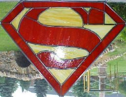 Superman Stained Glass by AutobotWonko