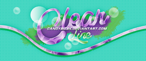 ClearLine font by CandyBiebs
