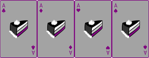 Ace Deck 77: Cake+Grey+Purple by Galadnilien