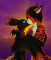Commission (Valheru and Blazepaw) 3 by Eliana-Asato