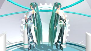MMD M2 Miku Append by Pokeluver223