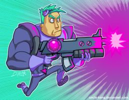 Neon Laser Cadet by Uncle-Bang