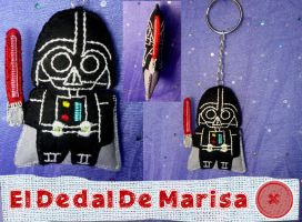 Star Wars Darth Vader Keychain by MrsSewing