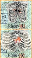 Ribcage with fishy by Tawwies
