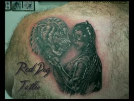 Andy's back Tattoo by Reddogtattoo