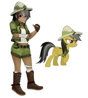 Daring Do human by magico-enma