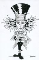 The Mad Hatter Drawing :D by vansters
