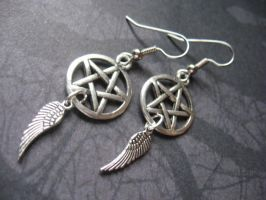 Supernatural Angel Earrings by SpellsNSpooks